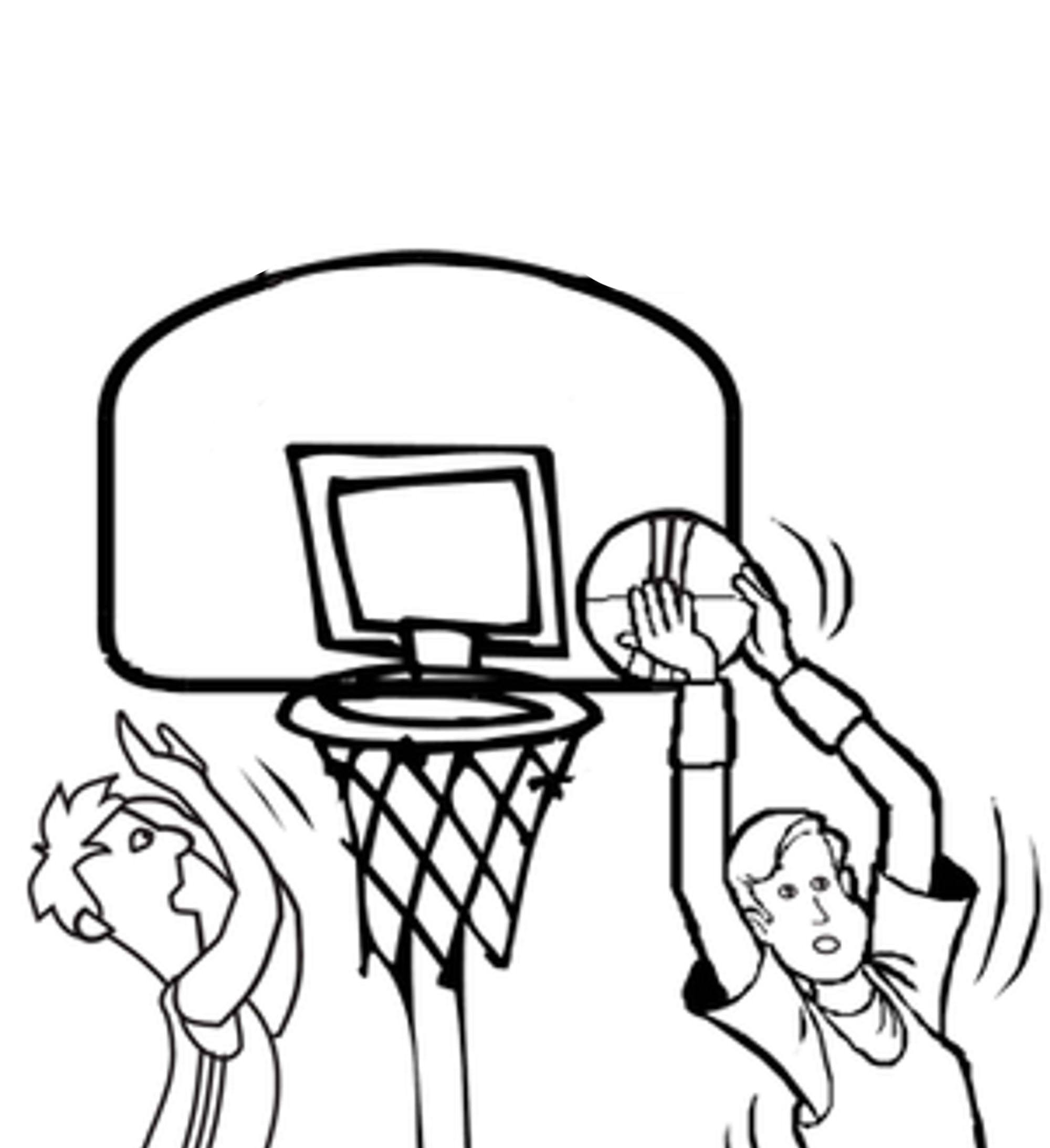 Coloring Pages Basketball Bestappsforkids