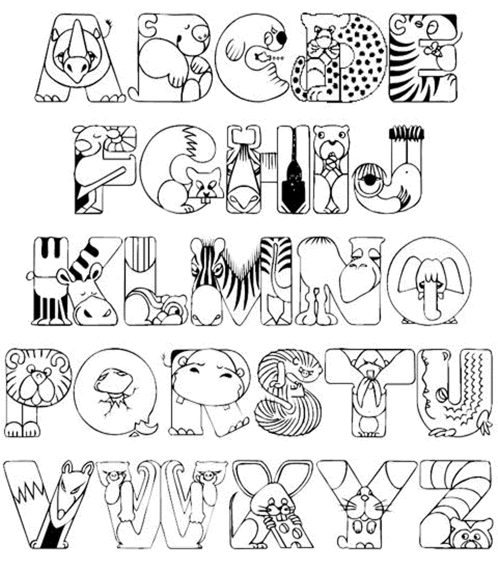 Abc Coloring Pages For Kindergarten Bestappsforkids
