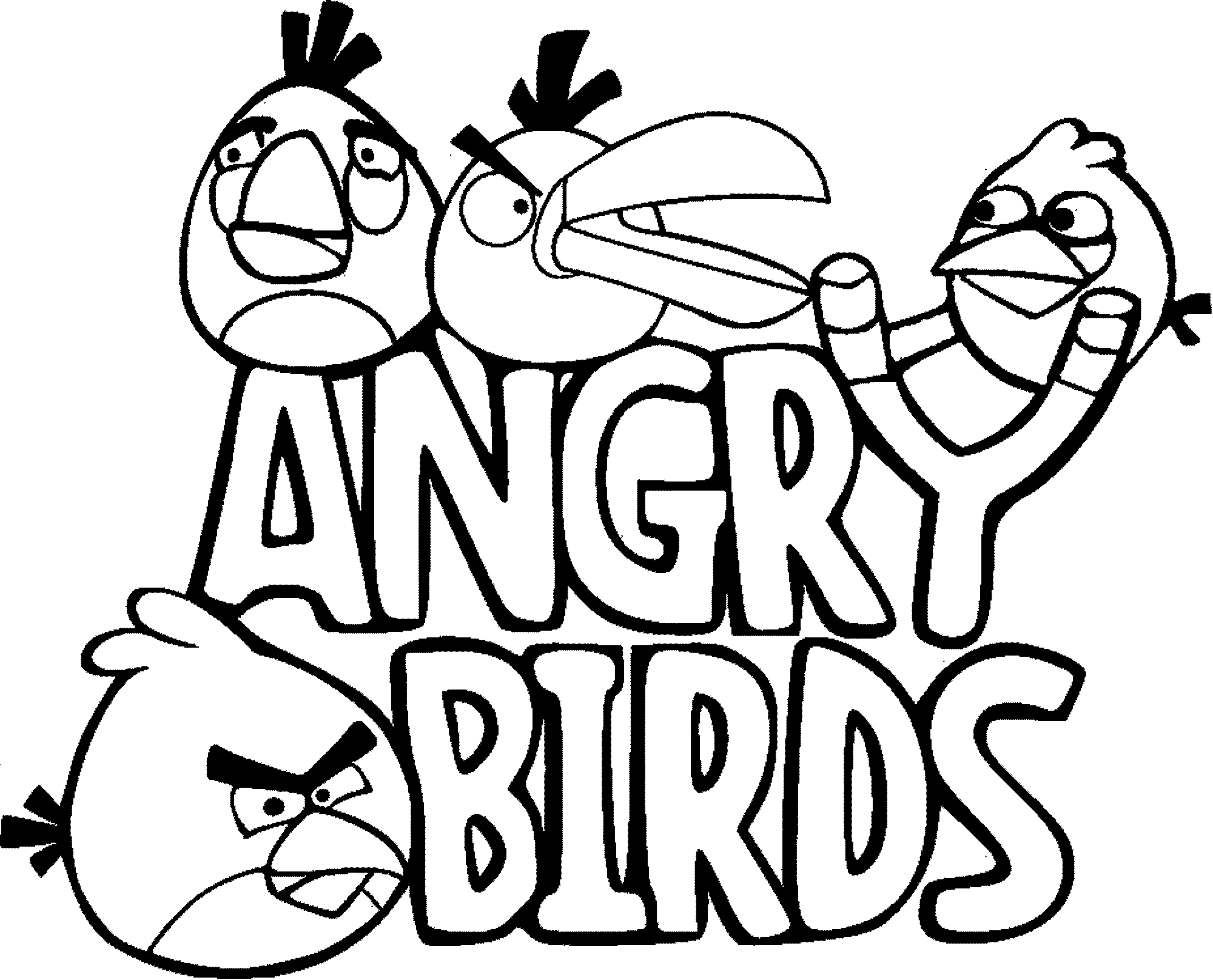 Angry Birds Coloring Pages All Caracter
