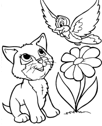 cat-and-bird-coloring-pages