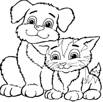 cat-and-dog-coloring-pages