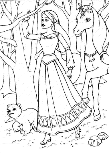 coloring-page-barbie