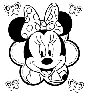 coloring-page-minnie-mouse