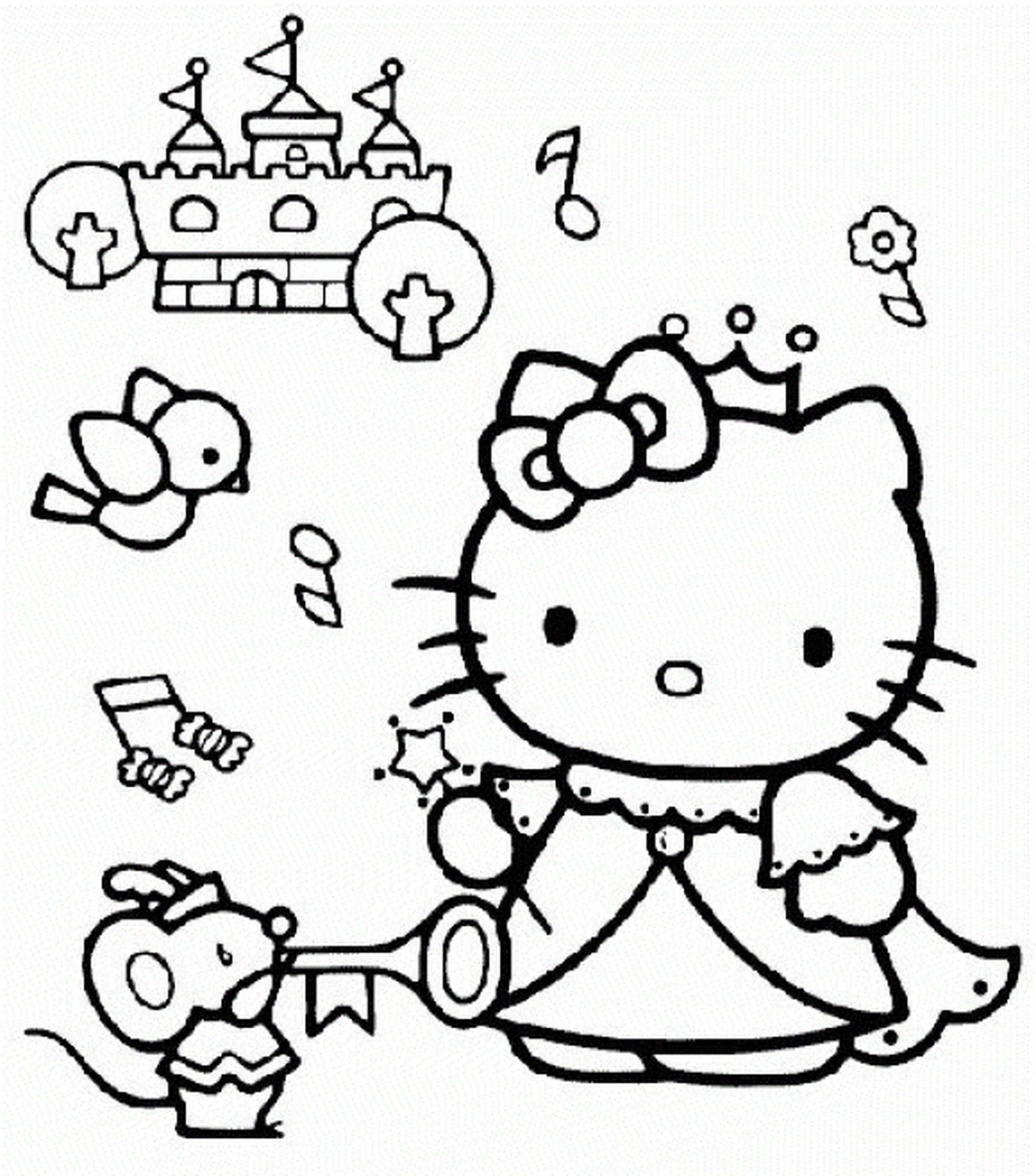 Coloring Pages For Girls Hello Kitty