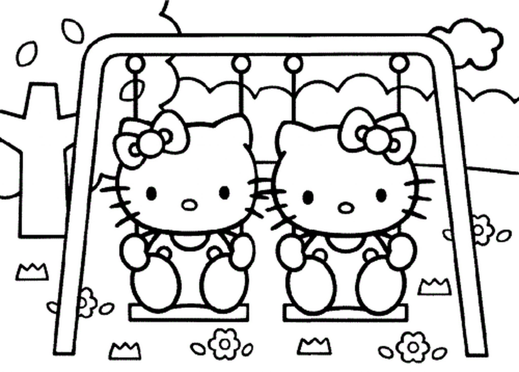 Coloring pages for little girls hello kitty