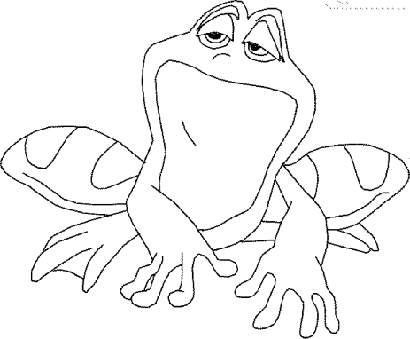 coloring-pages-of-a-frog