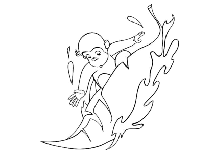 curious-george-playing-snow-coloring-pages