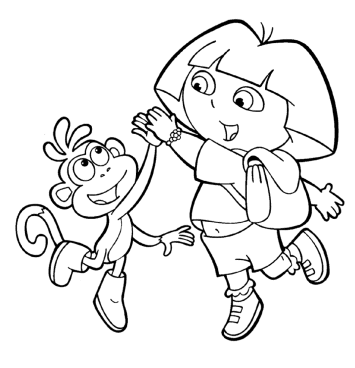 dora-and-boots-coloring-pages