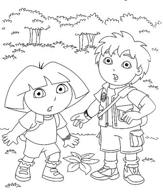 dora-and-diego-coloring-pages