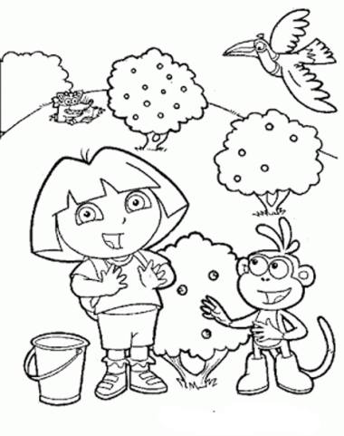 dora-coloring-pages-for-preschoolers