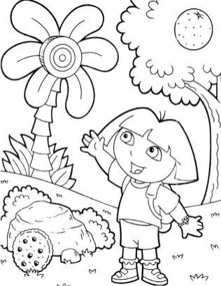 dora-the-explorer-coloring-page