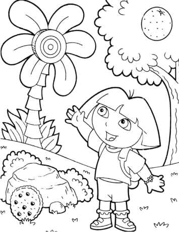 dora-the-explorer-coloring-page