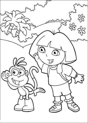 dora-the-explorer-coloring-pages-cartoon