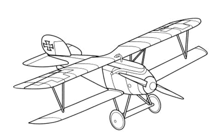 first-airplane-coloring-pages