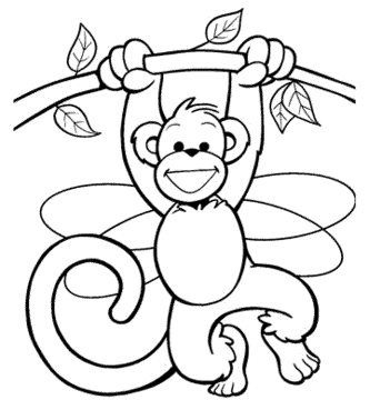 free-monkey-coloring-pages