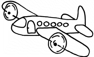 free-online-airplane-coloring-pages