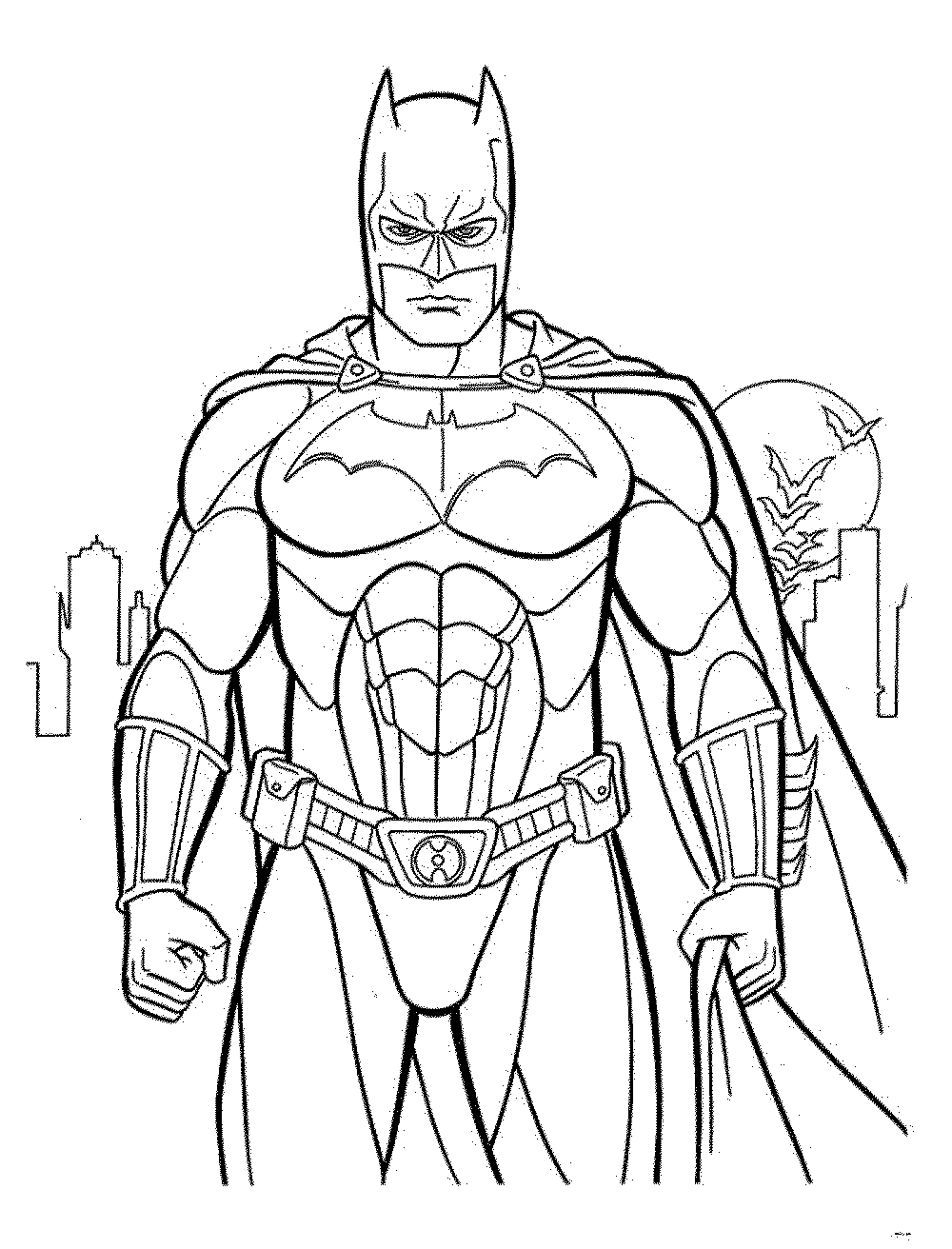 Print Download Batman Coloring Pages For Your Children
