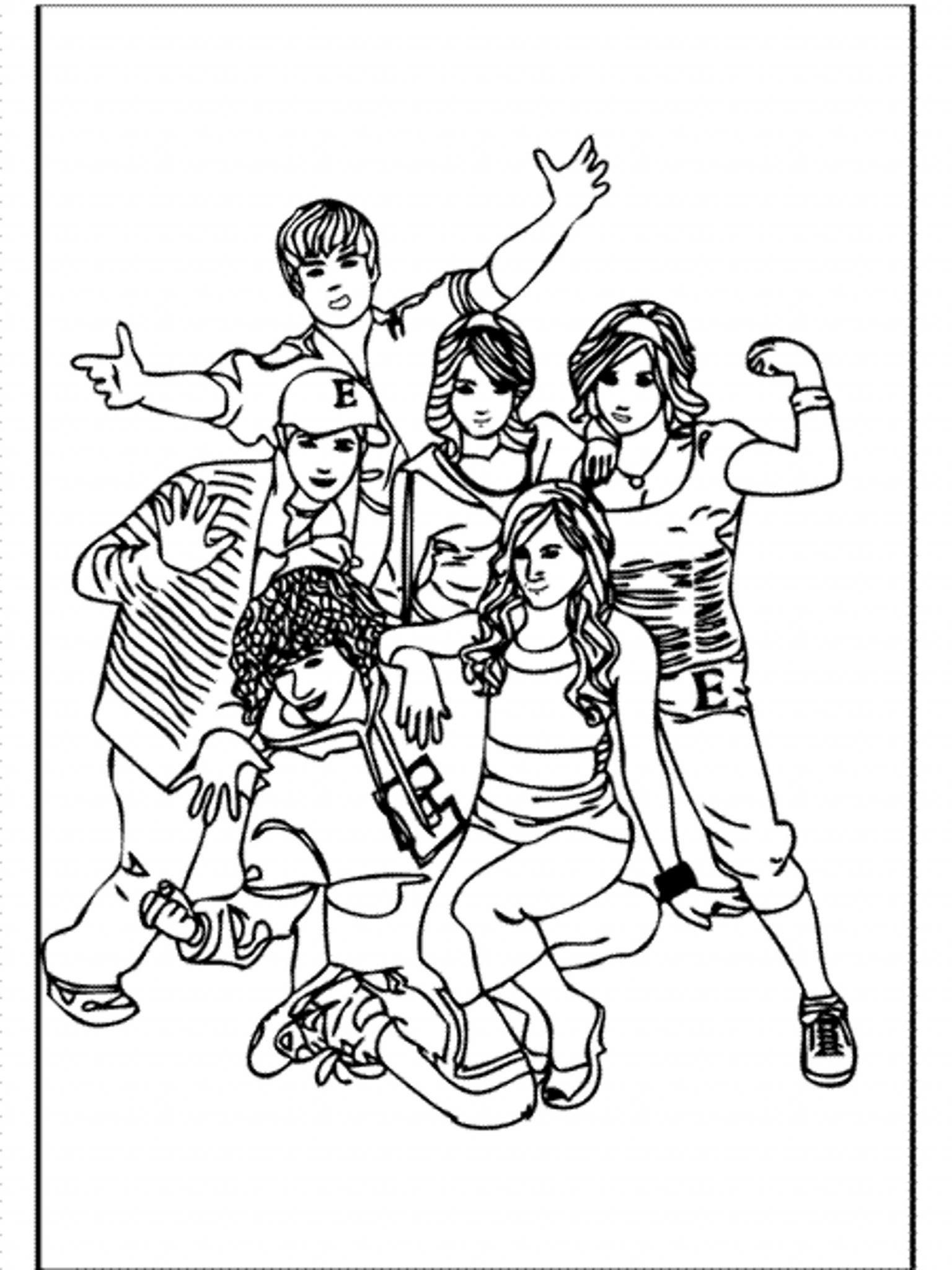 High School Musical Coloring Pages For Girls Printable
