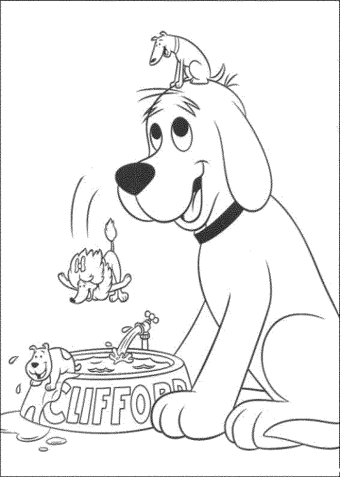 Employ dog coloring pages for your children s creative time for Kipper the dog coloring pages