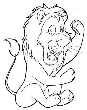 lion-cat-coloring-pages