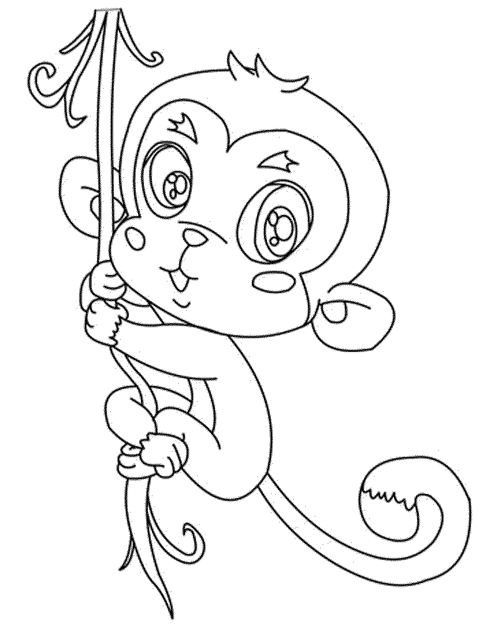 Print amp Download Coloring Monkey