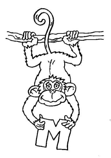 monkey-coloring-pages-printable