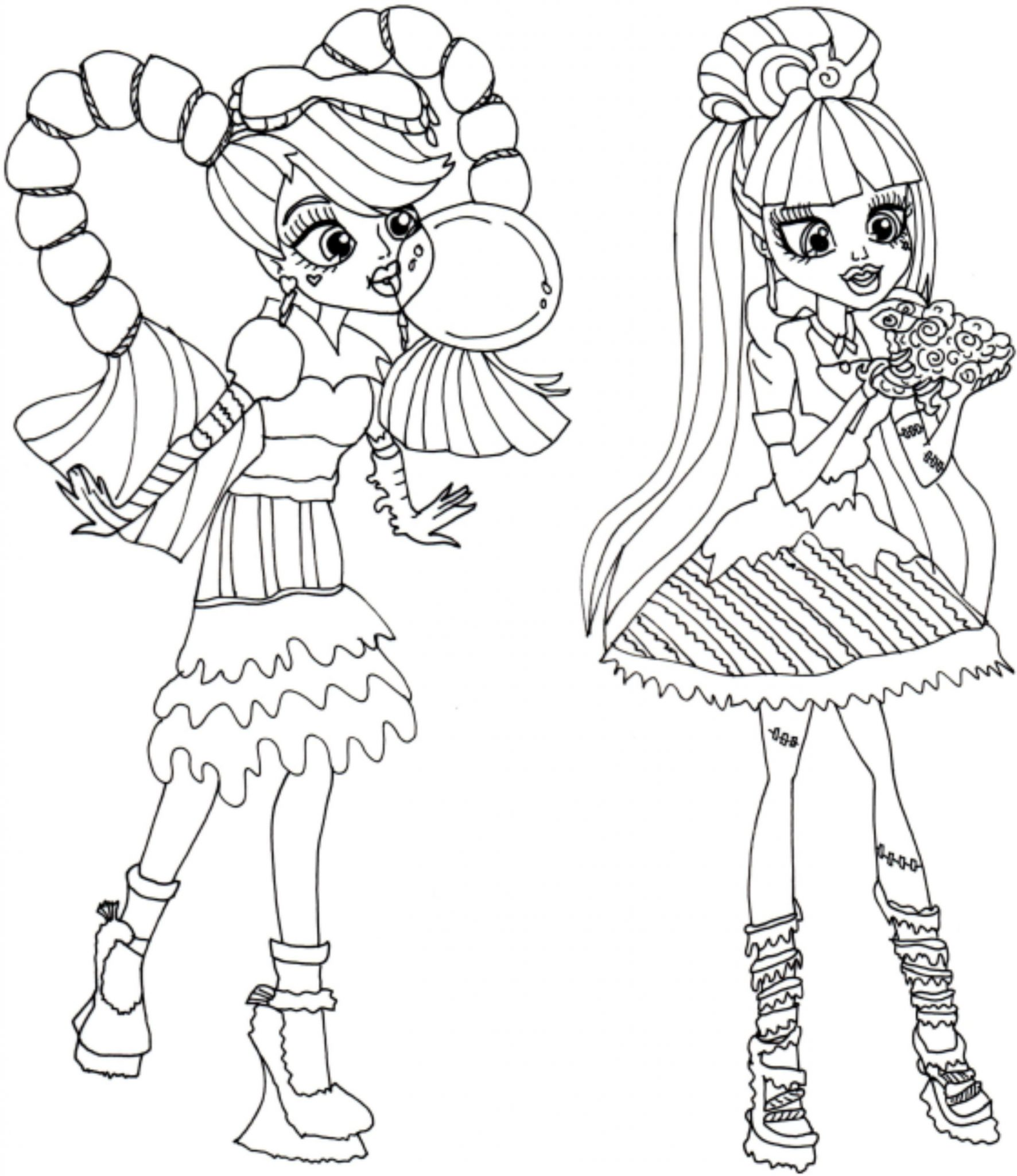 Print & Download - Monster High Coloring Pages Printable for Your Kids