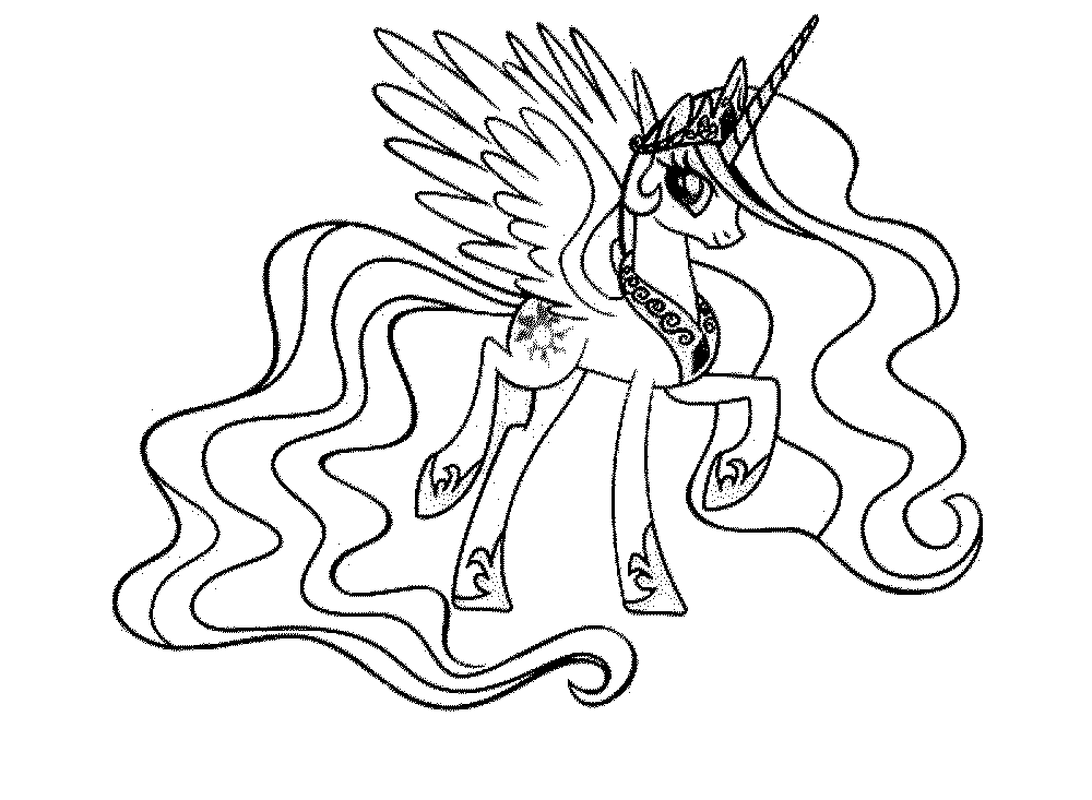 Print Download My Little Pony Coloring Pages Learning With Fun - Little-pony-coloring-page