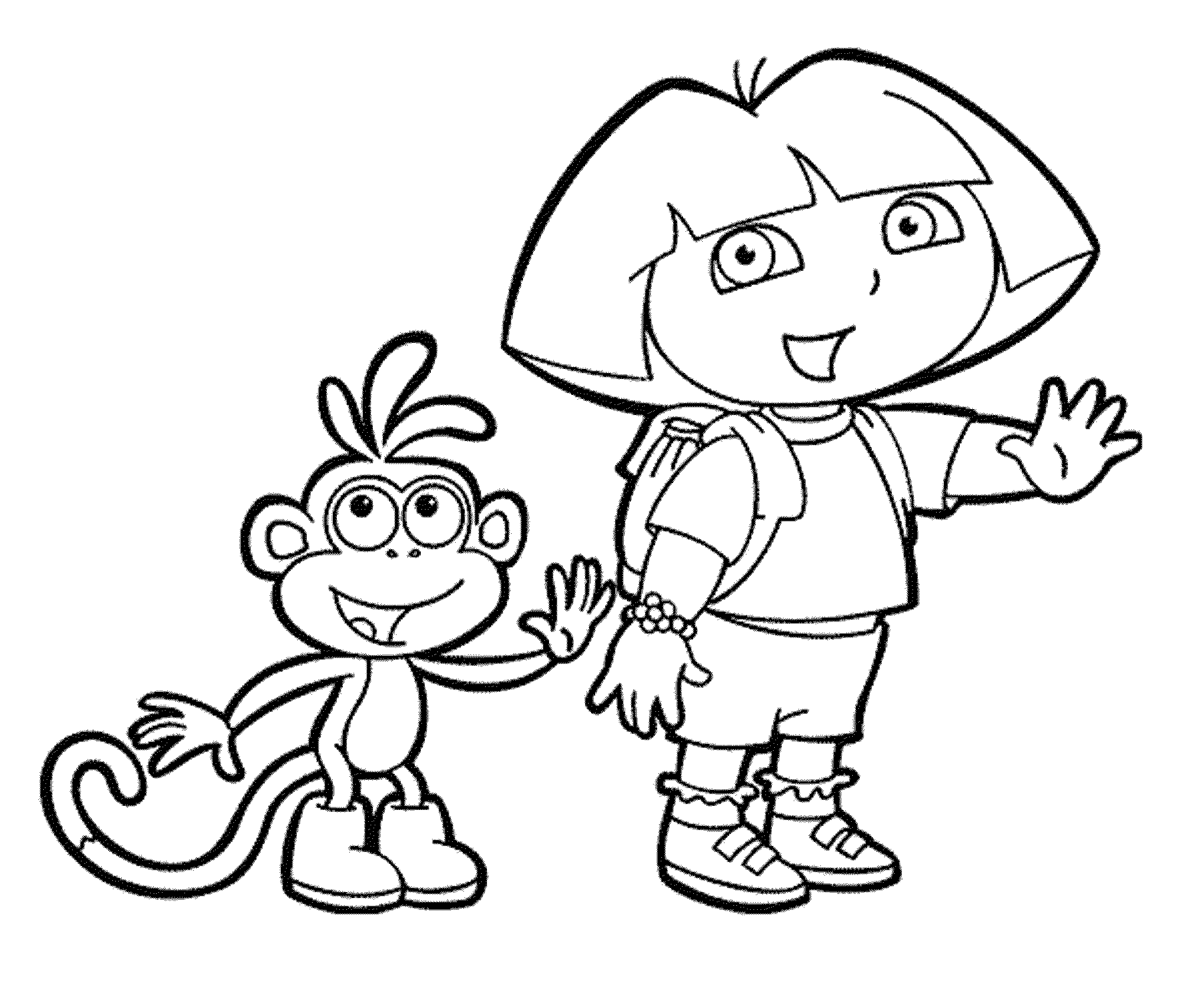 Print & Download - Dora Coloring Pages to Learn New Things