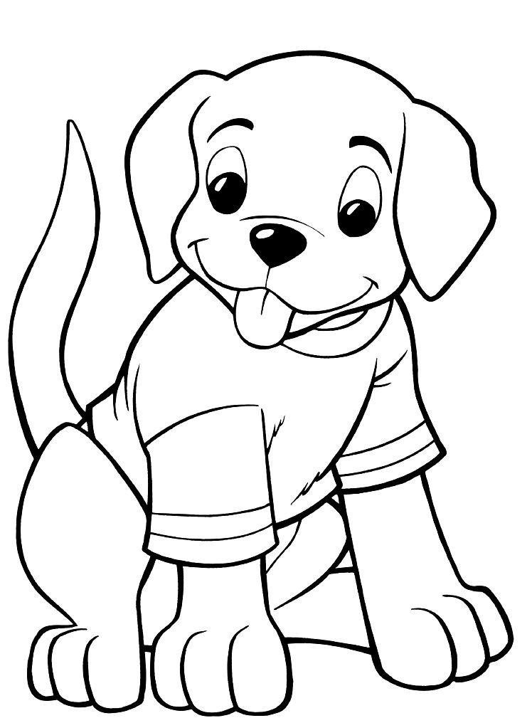 Print & Download - Draw Your Own Puppy Coloring Pages