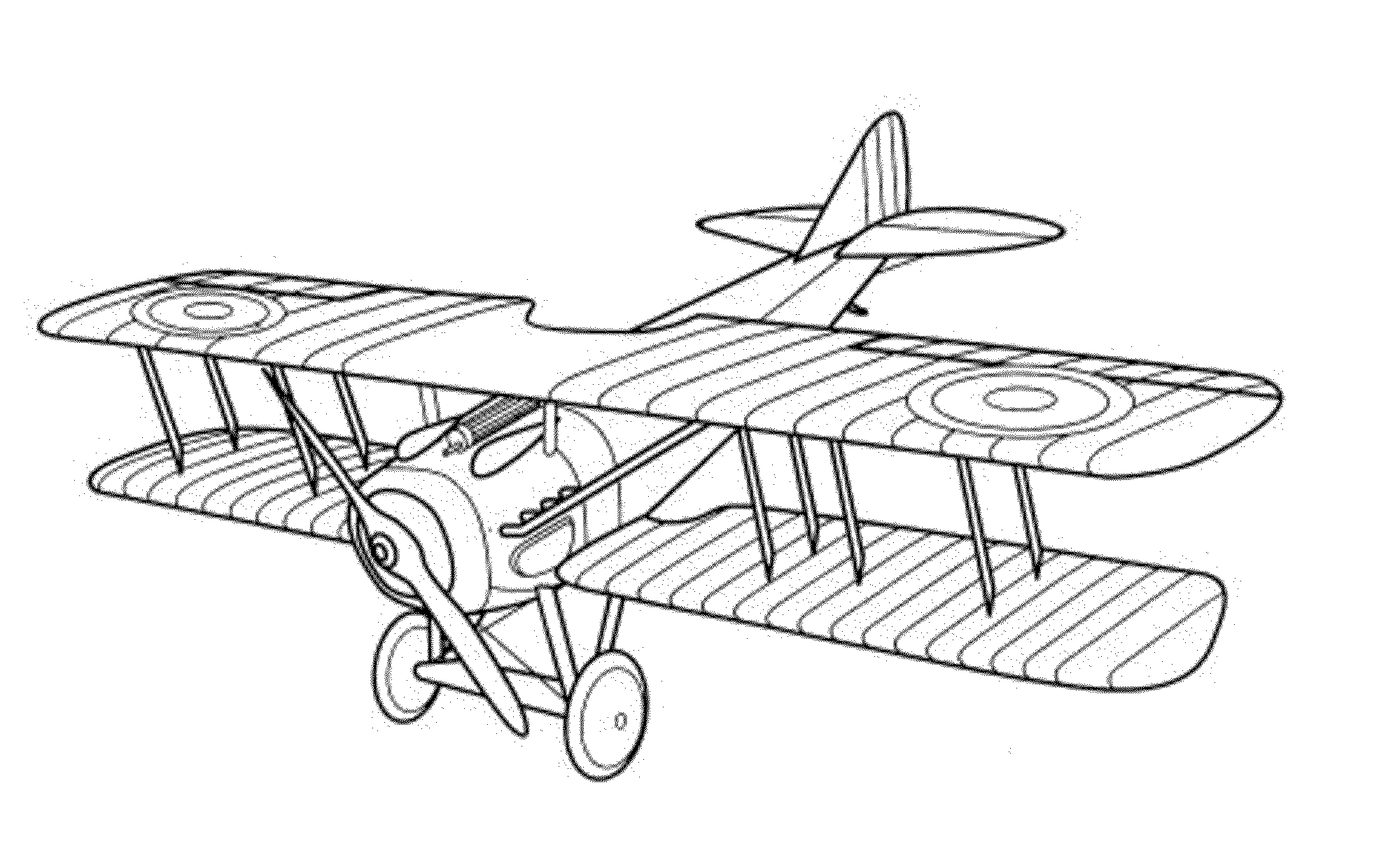 Vintage Airplane Coloring Pages