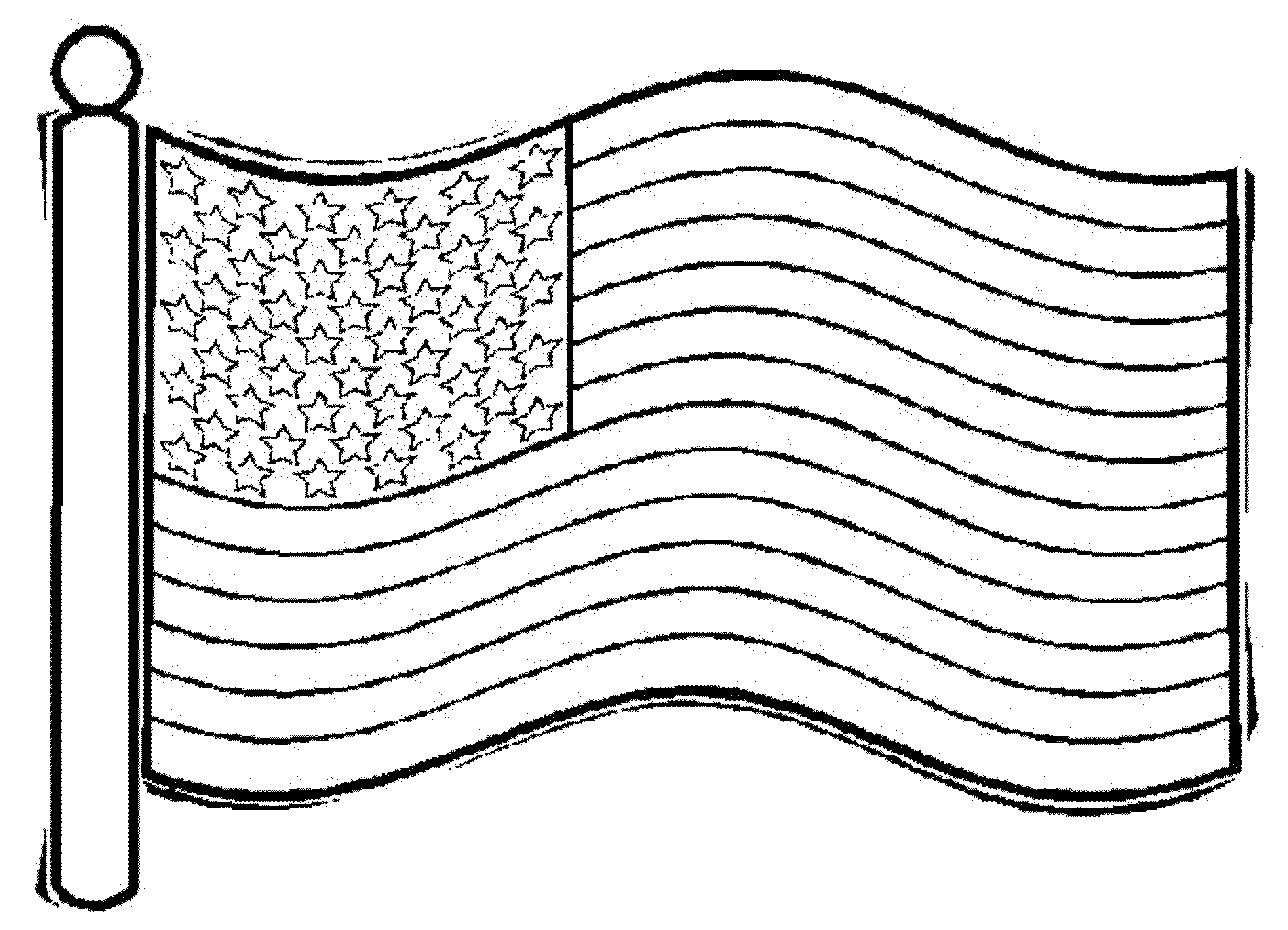 American Flag Coloring Pages For Toddlers Bestappsforkids