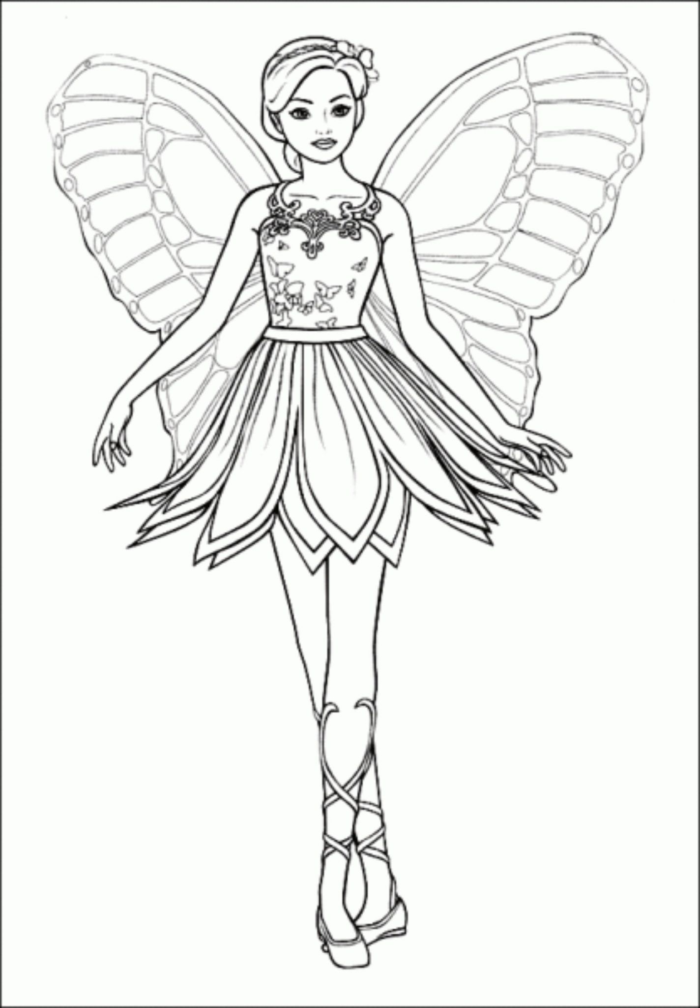 Barbie Princess Coloring Pages Bestappsforkids