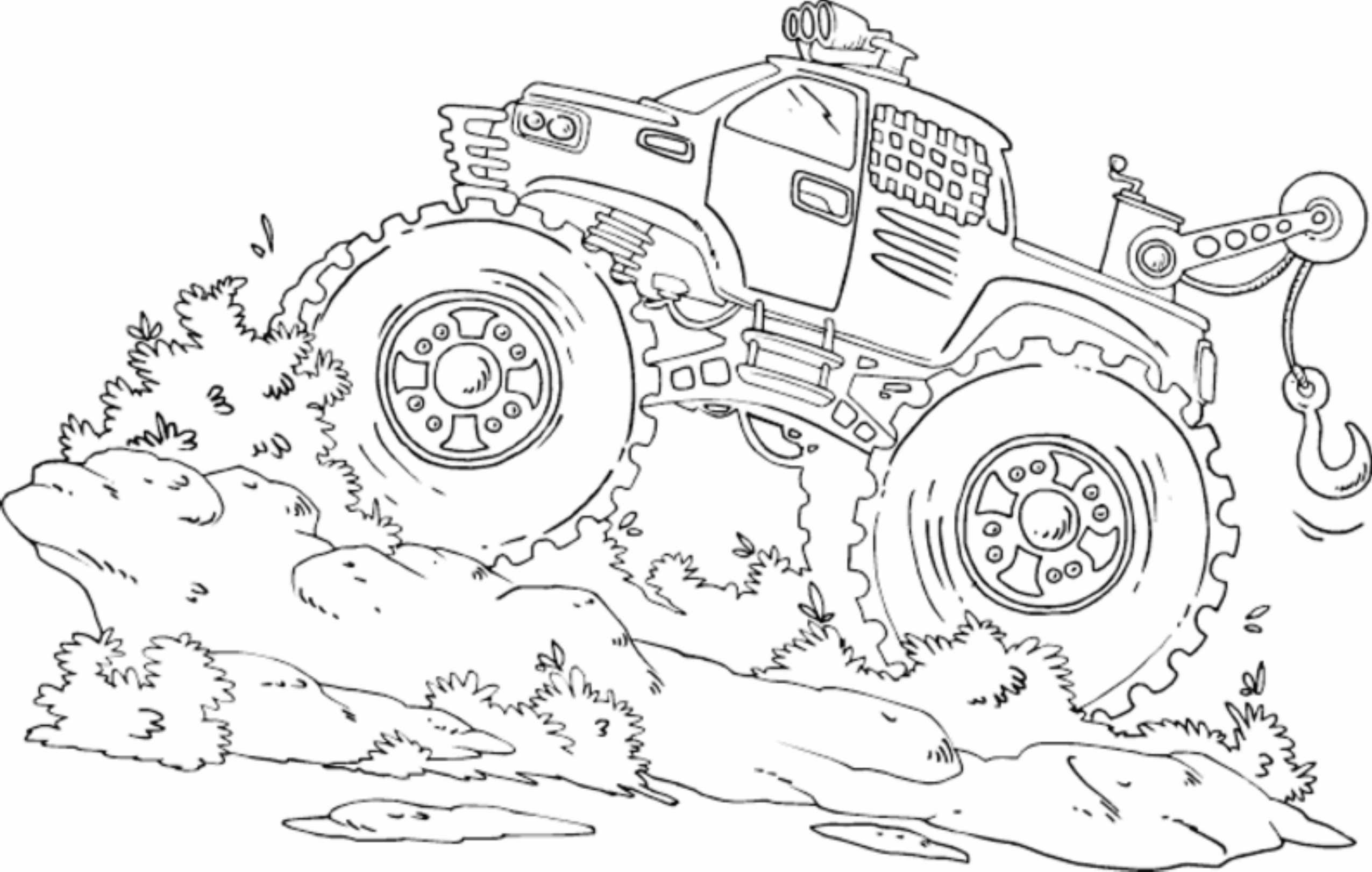 Blue Thunder Monster Truck Coloring Pages