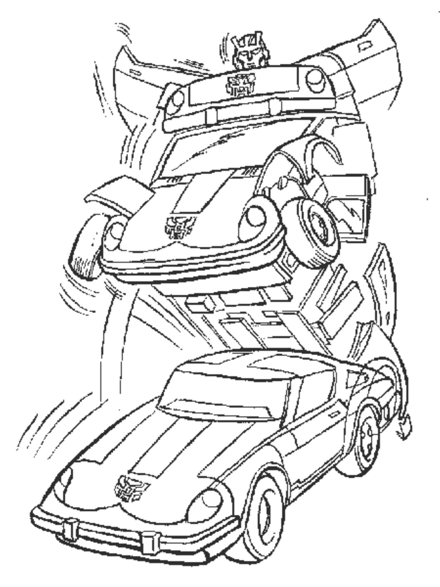 Bumblebee Tranformers Car Coloring Pages Printable
