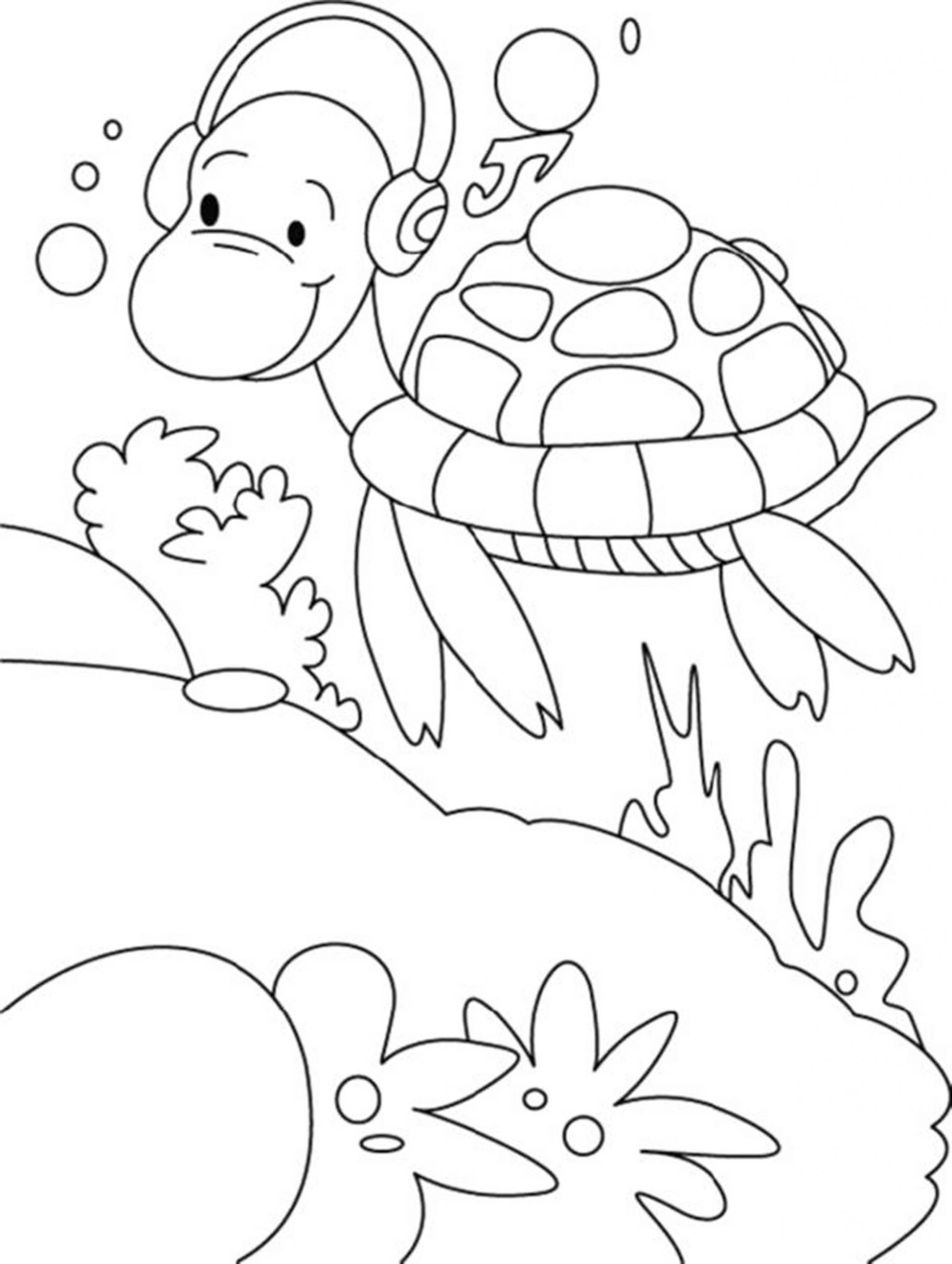 Print & Download - Turtle Coloring Pages as the ...