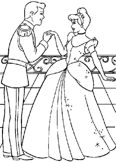 cinderella-and-prince-charming-coloring-pages