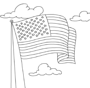 coloring-page-of-american-flag