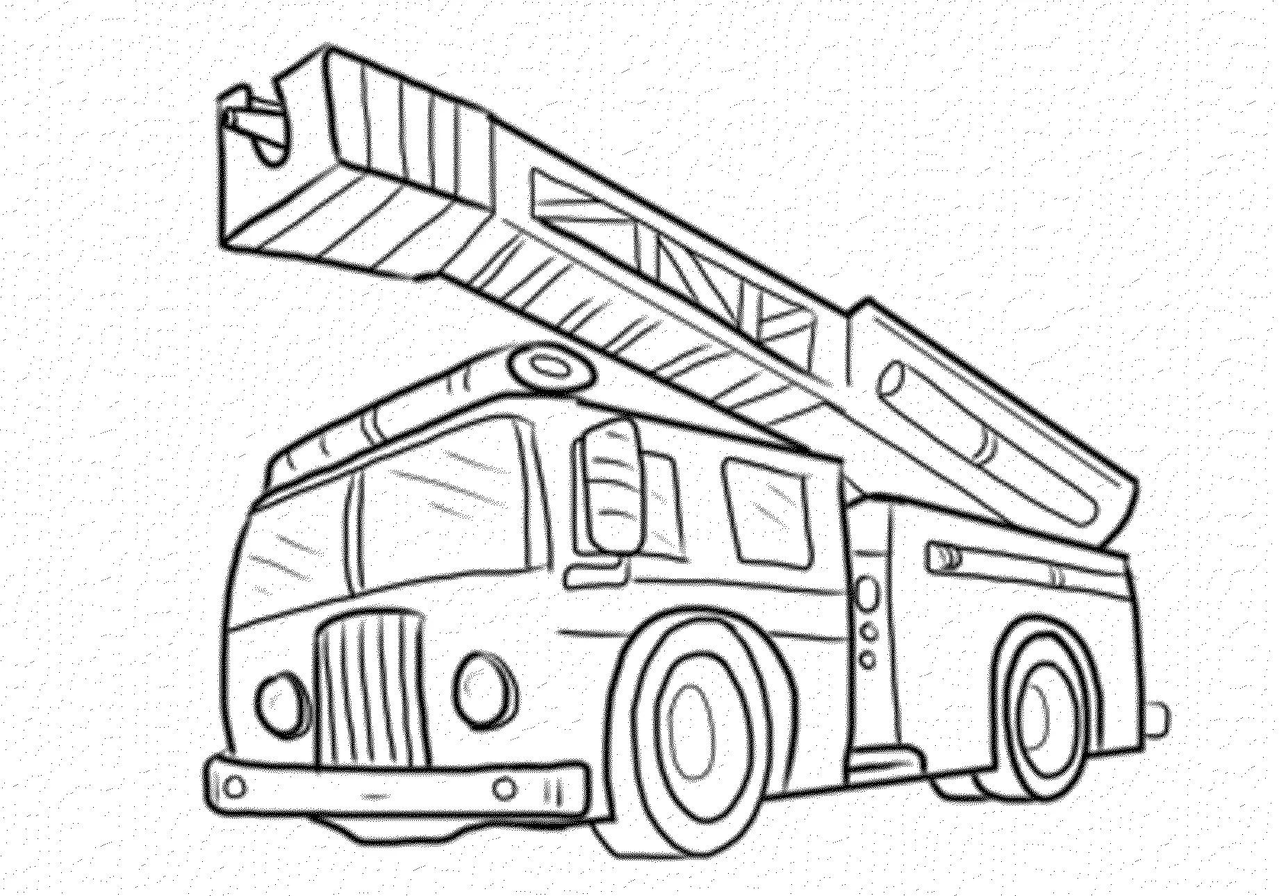 Coloring Pages Fire Trucks Preschool
