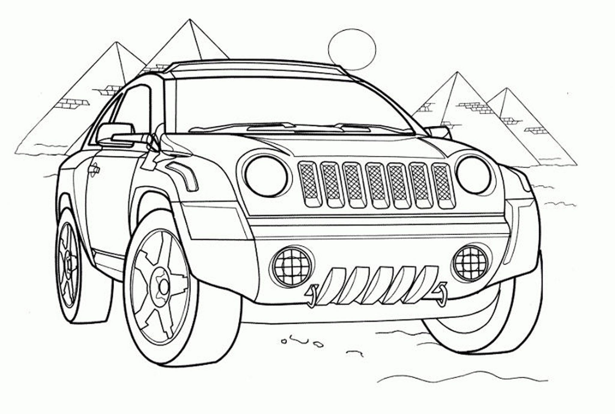 Coloring Pages For Boys Cars