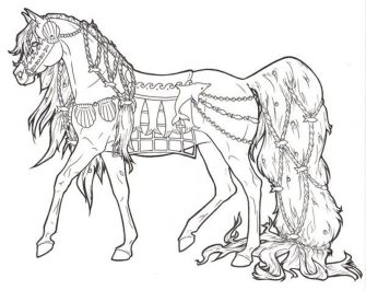 coloring-pages-horse