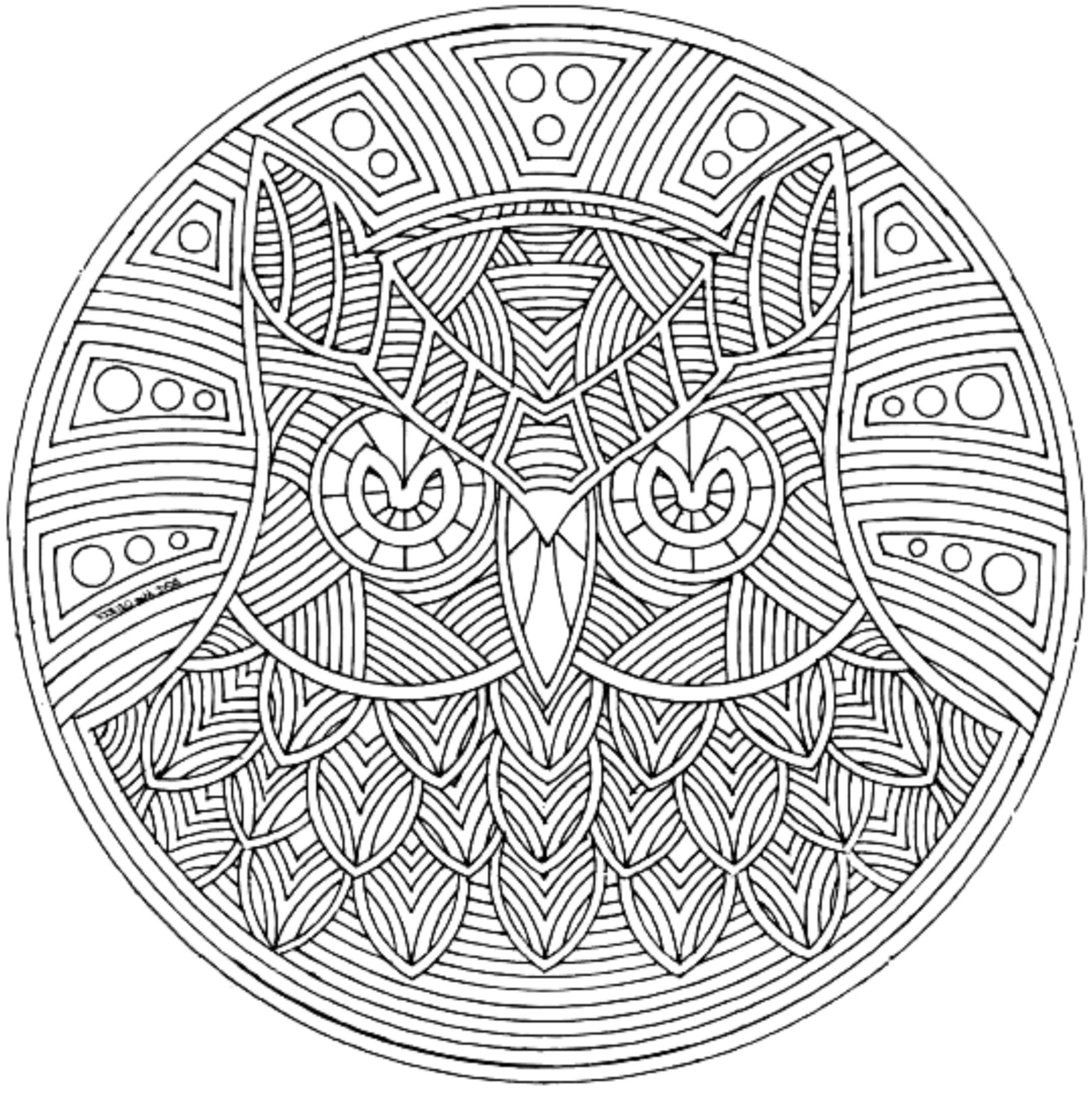 Print & Download - Complex Coloring Pages for Kids and Adults
