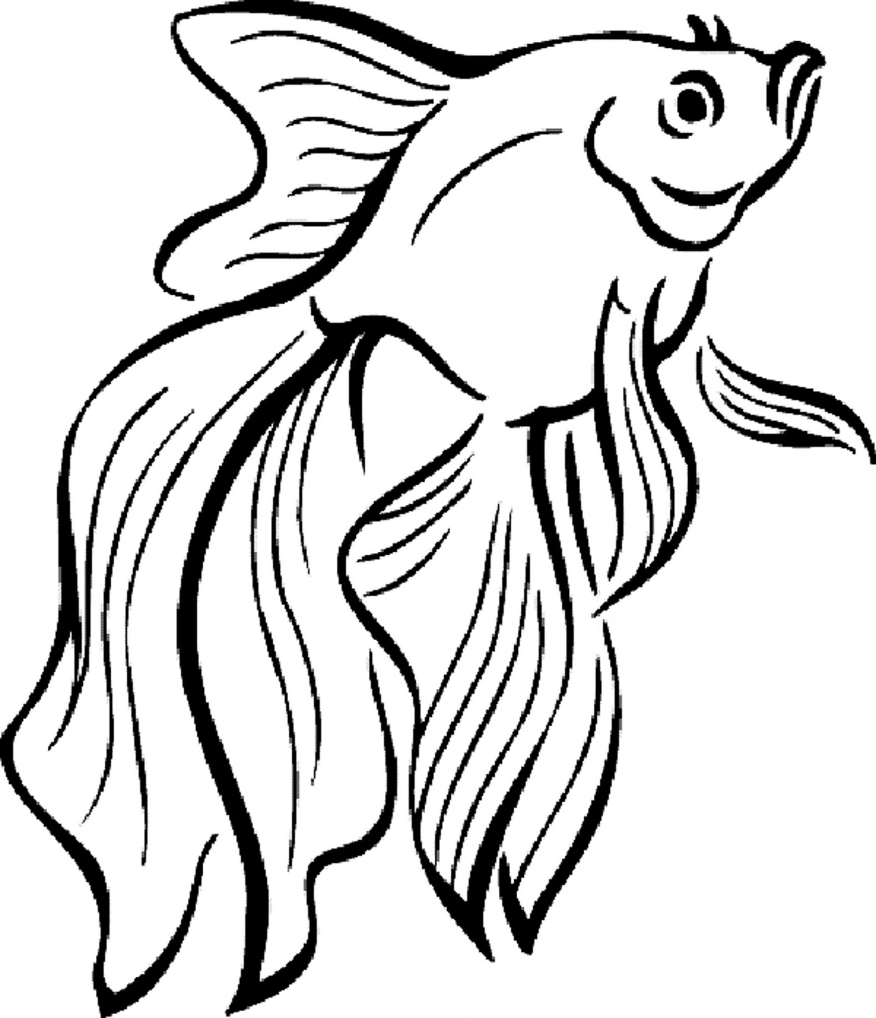Cute Fish Coloring Pages