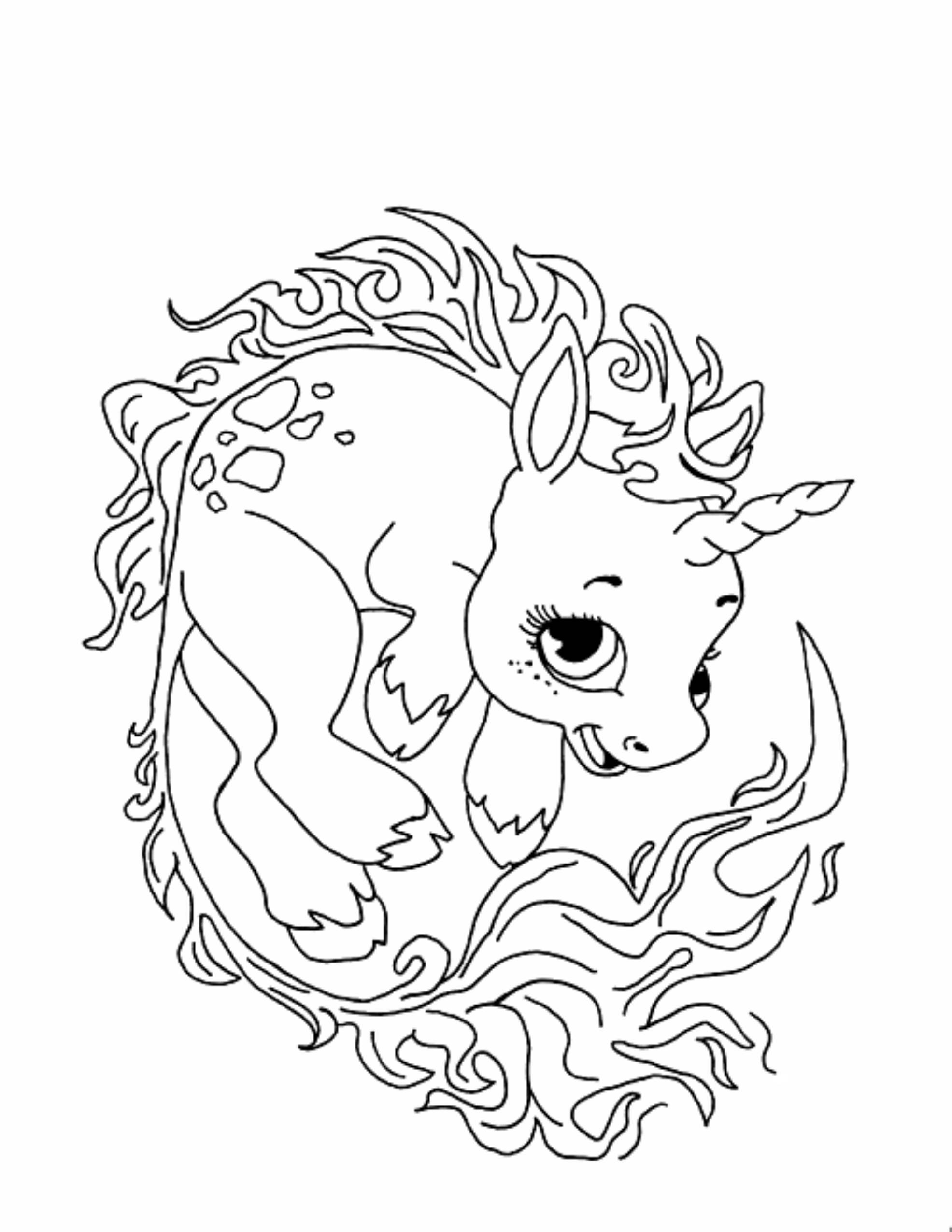 Print Download Unicorn Coloring Pages For Children
