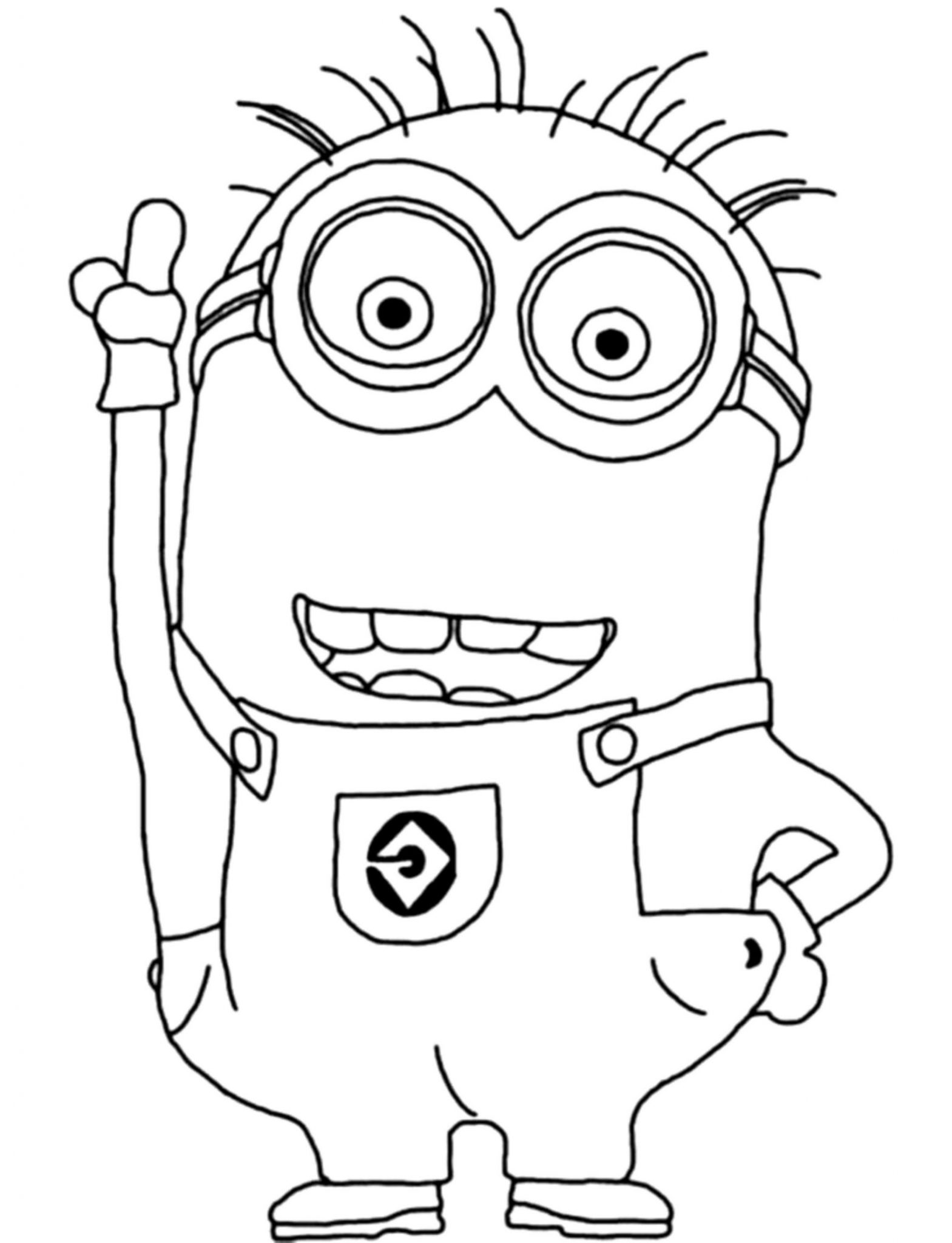 Print Download Minion Coloring Pages For Kids To Have Fun