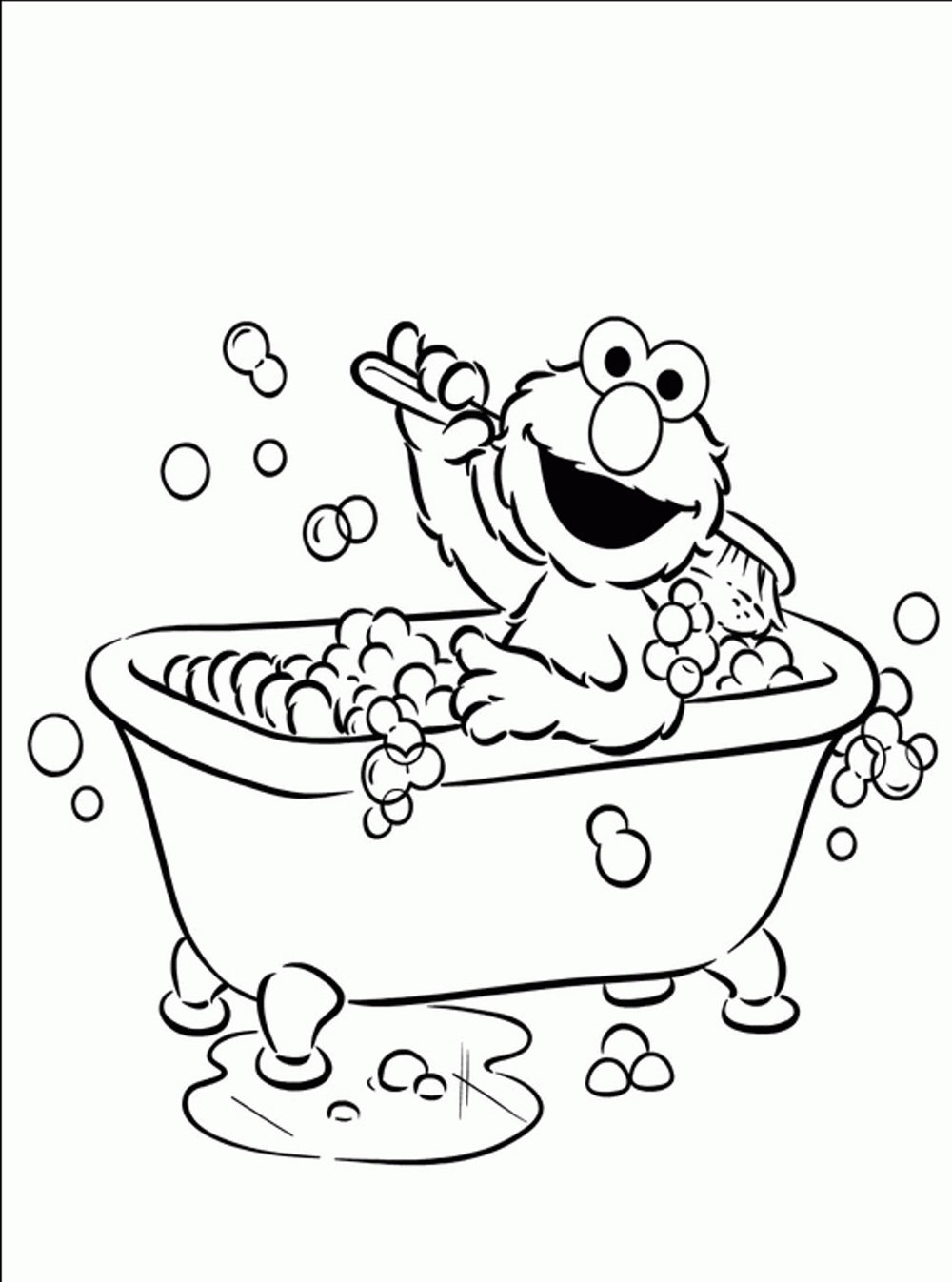 Elmo Coloring Book Pages Bathroom Bestappsforkids