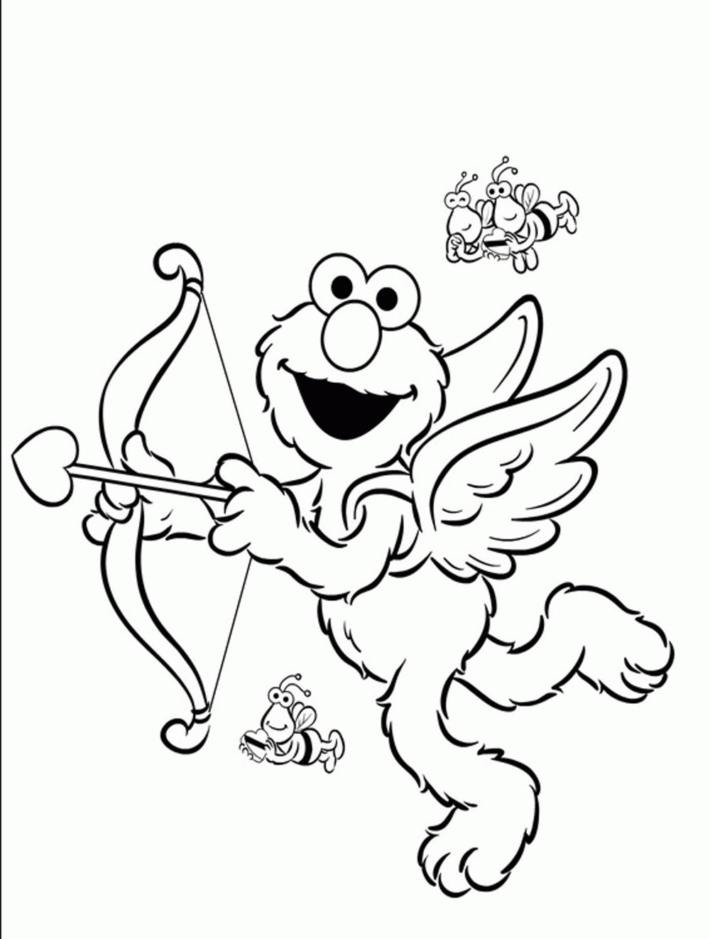 Print Amp Download Elmo Coloring Pages For Childrens Home