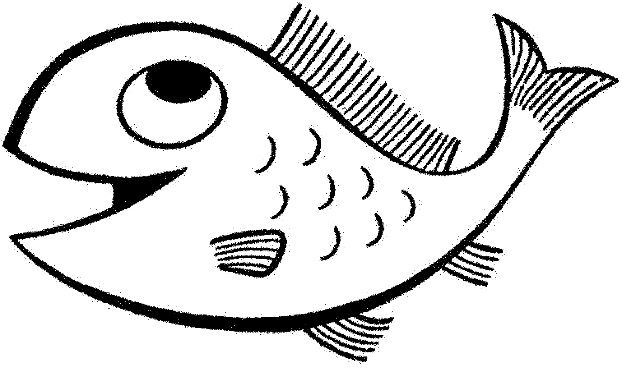 Print download cute and educative fish coloring pages for Photo to coloring page