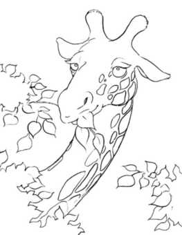 giraffe-face-coloring-page