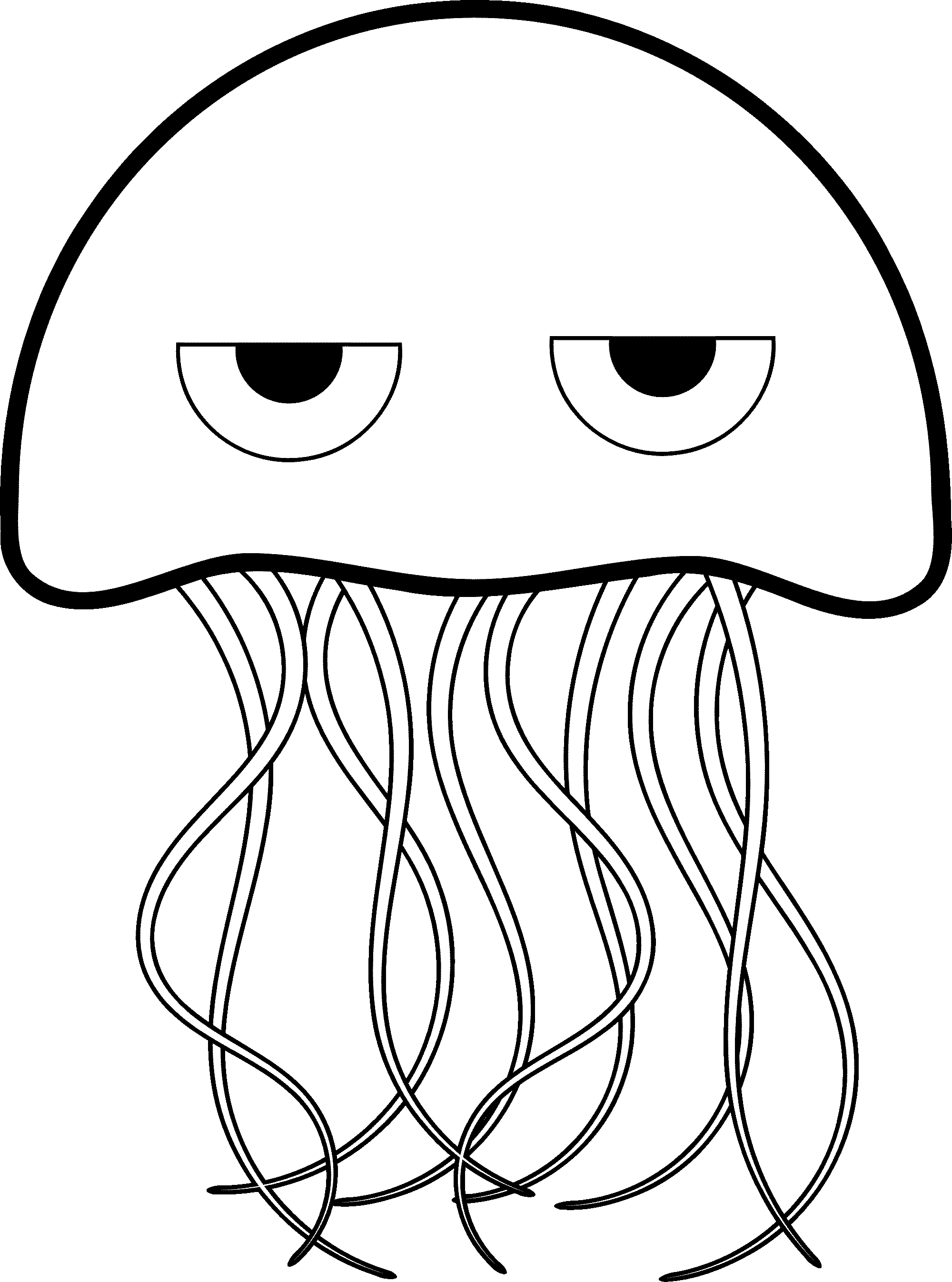 Jelly Fish Coloring Page